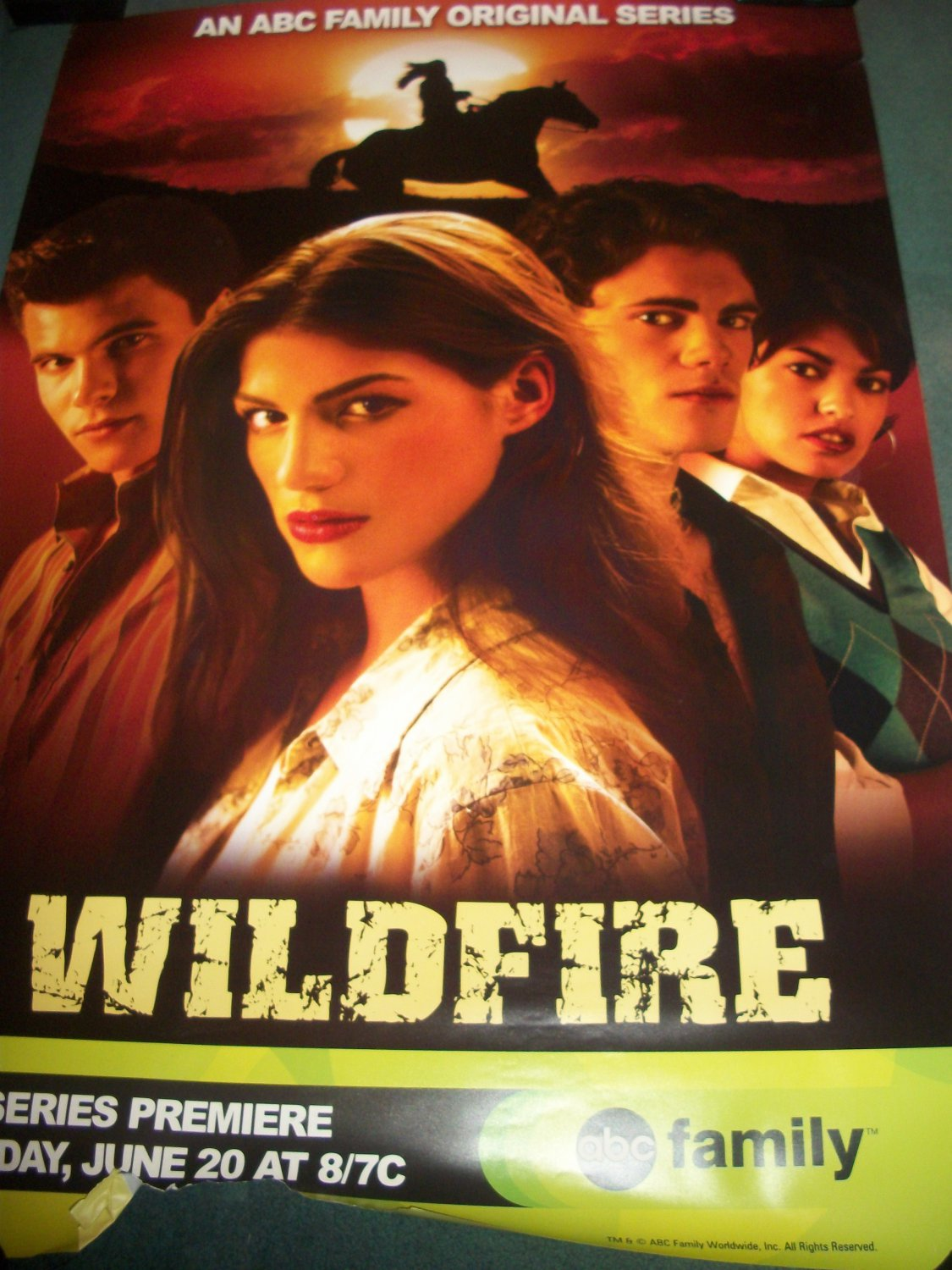 Wildfire Tv Show Original Poster Approx. 48 X 69