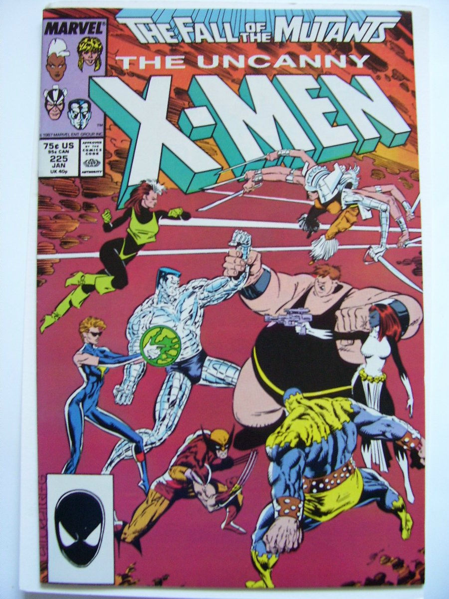 Uncanny X-men #225 The Fall of the Mutants Claremont/silvestri/green