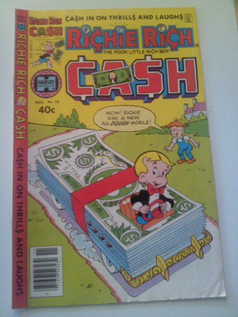 3 Harvey Comics Richie Rich 1963 Cash#32/1972 Riches#40/1974 Dollarsandcents#75