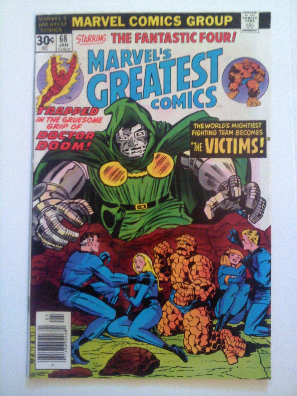 Marvel's Greatest Comics FF #68#70 Stan Lee/Jack Kirby Victims, Vs Doom, Moleman
