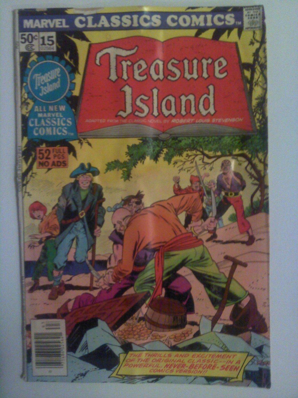 Marvel Classics Comics #15 Treasure Island 52 pages no Ads