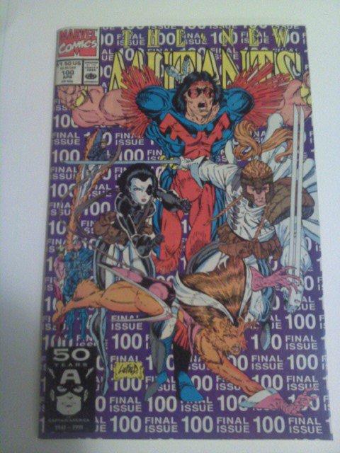 New Mutants #60,61-Fall of the Mutants,#100 1st X-force Ann.#7