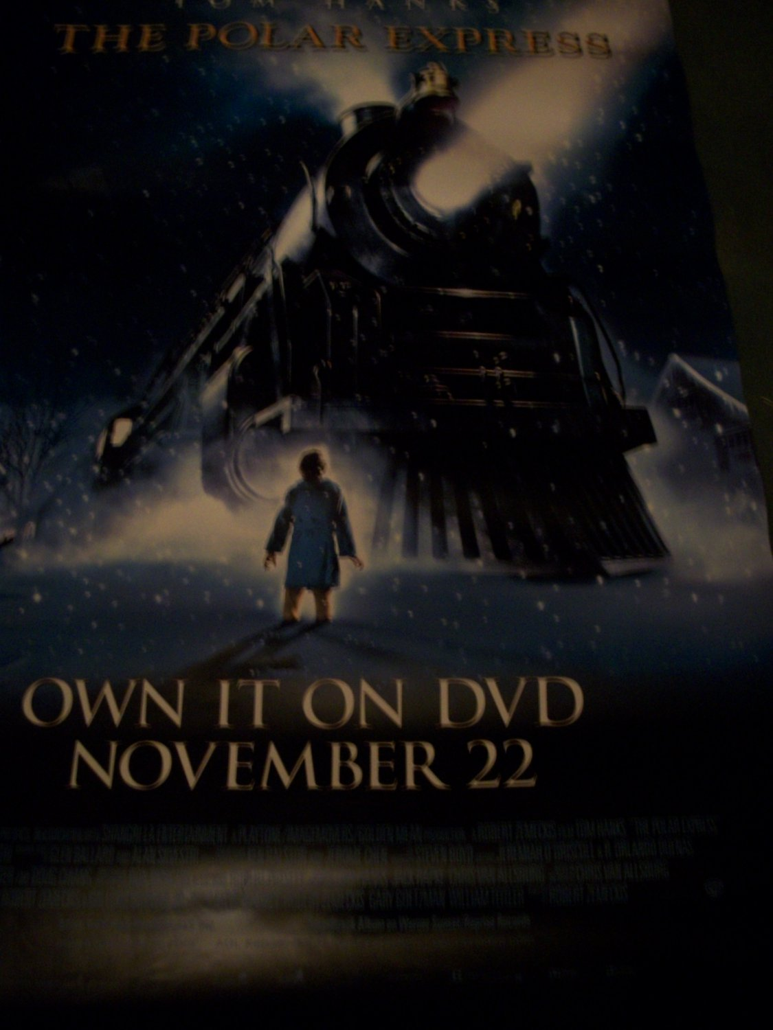 The Polar Express Tom Hanks Original Movie Poster Approx. 4 ft x 5 ft 9 inches