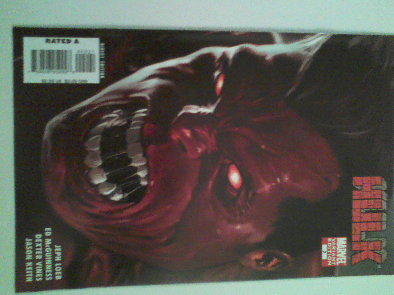 Hulk Vol 2 #2 Incentive  Cover 1st Red Hulk
