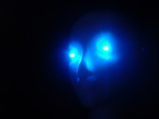 BLUE LEDs Spooky Halloween LED Eyes