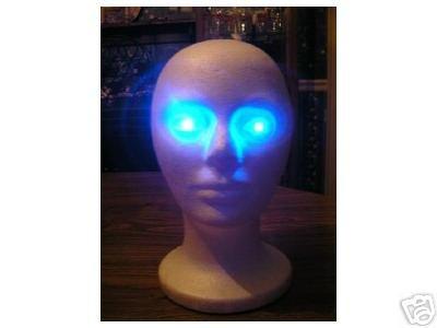 AC (Plugin) Powered BLUE LEDs spooky Halloween LED Eyes