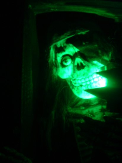 AC (Plugin) Powered GREEN LEDs spooky Halloween LED Eyes