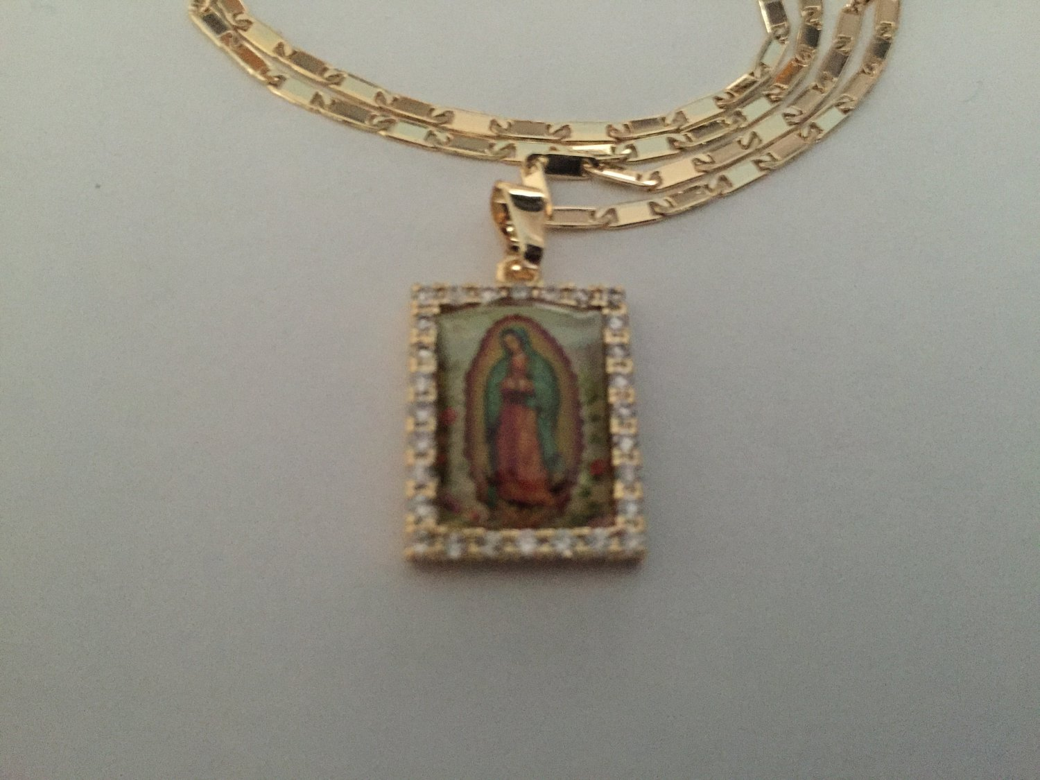 Virgin De Guadalupe Gold Necklace 101