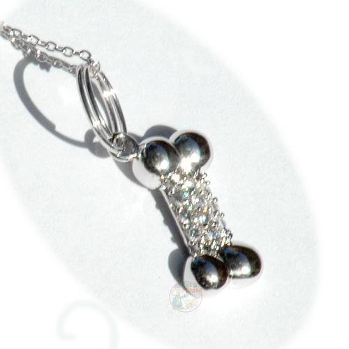 Bling Bone Pooch Necklace