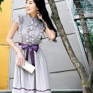 D0065 - Chiffon + Satin Dress