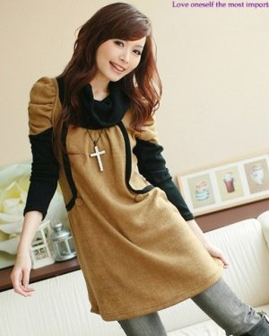 D0083 - Knitted Woolen Dress