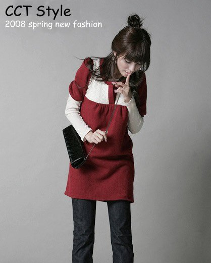 D0084 - Knitted Woolen Dress