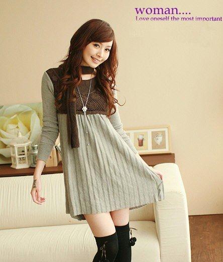 D0086 - Knitted Woolen Dress