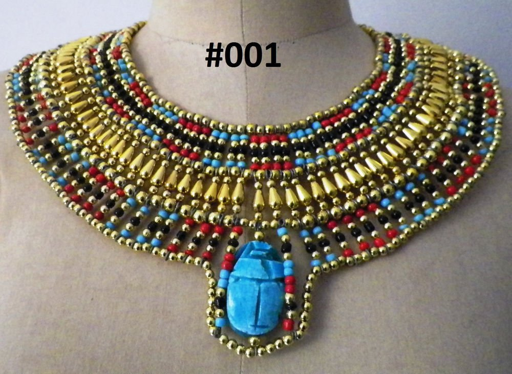 Egyptian Queen Cleopatra style Pharaoh's Necklace/Collar shipped from USA