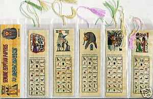 LOT OF 200 HIEROGLYPHIC ALPHABET BOOKMARKS FR EGYPT