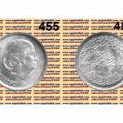 "1976 Egypt Silver Coins "" Umm Kalsoum "", "" Om Kalthoum "" UNC, One Pound, #KM455"