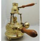 1 handmade Brass Turkish Coffee Maker alcohol burner and pot ibrik