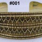 Handmade Egyptian Bedouin Siwa costume Jewelry Bracelet,German Gem,Brass Ethnic