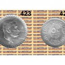 """1970 Egypt Silver Coins """" President Gamal Abdel Nasser - NASSER """"UNC,50 Piasters"""