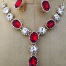 ASFOUR the finest Crystal  jewellery, Pendant and Earrings set top quality