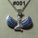 Hall marked Egyptian Pharaonic Silver Pendant ,Isis,Udjat's Eye ,Ankh And Tut