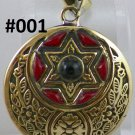 Hand Made Egyptian costume Jewelry Pendant with German Gem Ethnic Tribal Islamic