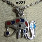 "Hall marked Egyptian Pharaonic Silver Pendant ""UDJAT'S EYE"" Many To Choose From"