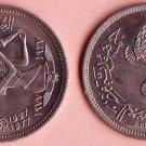Coins Metal-Munzen-Monedas LOT x7 Coins Egypt  5 Piastres1977-1979 UNC