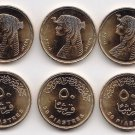 Coins Metal-Munzen-Monedas LOT x10 Egypt QUEEN CLEOPATRA Y2008 Coins UNC