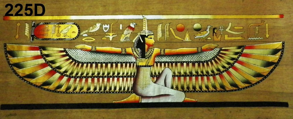 "Egyptian, Pharaonic, Authentic Papyrus Paint size 40x90 cm(16""x36"") 3 to choose"