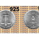 """2004 Egypt Silver Coins """" Administrative  Prosecutor's Authority """" Uncirculated"""