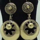 Hand Made Egyptian Bedouin Siwa costume Jewelry Earrings , Brass Ethnic