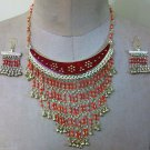 Egyptian Custom Jewlery Set of TWO Necklace and Earings, Many Colors to choose