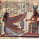 "101 Egyptian Papyrus  HandMade Painting,size 70x100cm (28""x40"") Maat & Isis"