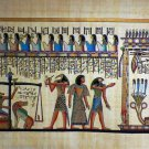 "#244 Egyptian Papyrus  HandMade Painting,size 60x120cm (24""x48"") Judgement Day"