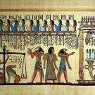 "#244 Egyptian Papyrus HandMade Painting,size 100x200cm (40""x80"") Judgement Day"