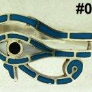 Hall marked Egypt Ägypten Pharaoh Silver Bracelet,Eye of Horus and Turquoise