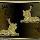 Egyptian Hall Marked 18 Karat Gold pendant, Egypt Pharao's Statue , Sphinx