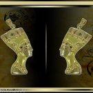 Egyptian Hall Marked 18 Karat Gold pendant, Egypt Pharao's Queens , Nefertiti