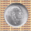 """1970 Egypt Egipto مصر Silver Coins """"Gamal Abdel Nasser-NASSER """",25 Pt"""