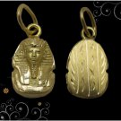 Egyptian Hall Marked 18 Karat Solid Gold pendant,  King Tut Bust