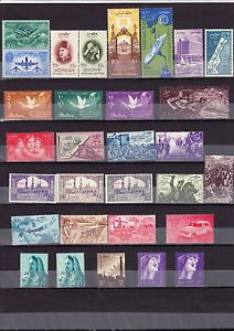 "Egypt,�gypten, Egipto �صر ""MNH"" Every Stamp 1957 Complete Year Set"