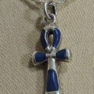 Hall marked Egyptian مصر Pharaoh Silver Pendant ,800,Ankh with Lapis