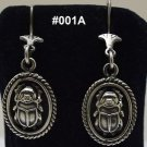 Hall marked مصر Egyptian,Pharaonic,Authentic Silver Earrings,Scarab,Ankh,Variety