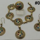 Egyptian,Bedouin Tribal Gypsy style Brass Bracelet/pendant/earring/Ring set 4