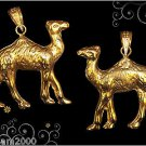 Egyptian Hall Marked 18 Karat Gold pendant, Egypt Pharao's Statues , The Camel