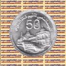 """2006 Egypt Egipto Египет Ägypten Silver Coin """" Suez canal nationalization """", 5 P"""
