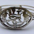 Hall marked Egyptian Pharaoh Silver Bracelet,800,Eye of Horus ,Pharaonic Symbols
