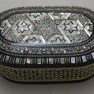 Egyptian. Islamic Mother of Pearl Mosaic Inlaid Wood Jewelry Box , Variety