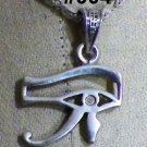 "Hall marked Egyptian Pharaonic Silver Pendant ""UDJAT'S EYE ,Scarab, Ankh, Isis"""